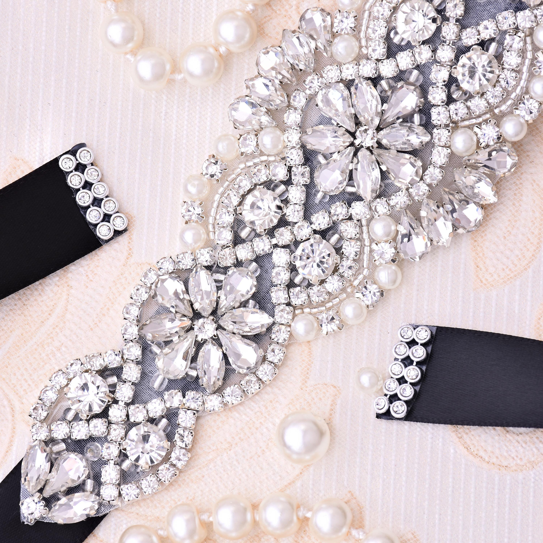 Tali pinggang pengantin berlian pengantin Rhinestones, tali pinggang - Aksesori perkahwinan - Foto 4