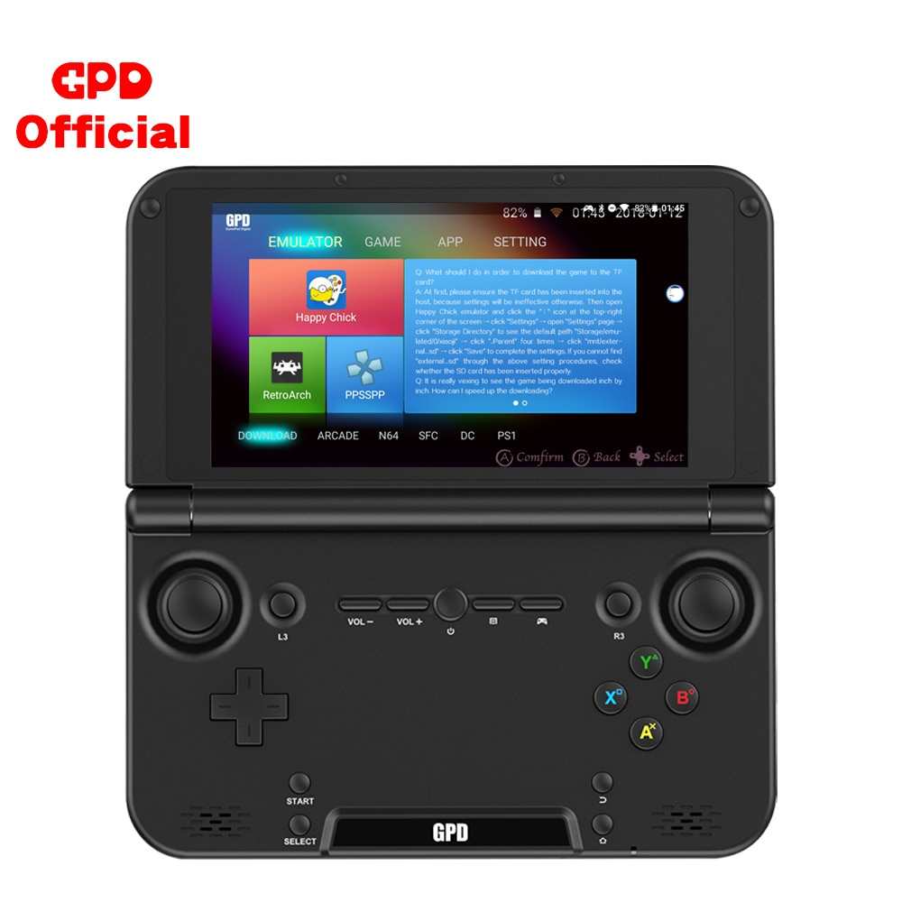 Handheld Game Player Portable Retro Game Console GPD XD Plus Emulator PS1 N64 ARCADE DC Touch Screen Android CPU MTK 8176