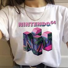 Tee-shirt femme Esthétique 90s Mode T-shirts Femmes Harajuku Ullzang Graphique Drôle Dessin Animé t-shirt Streetwear Top T-Shirts Femme