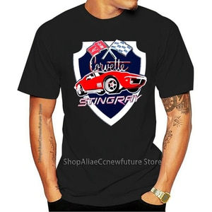 Do Vintage Americano Carro Corvette Stingray Homens Impresso Summer Camiseta 2021 Leisure Fashion T-shirt 100% Cotton