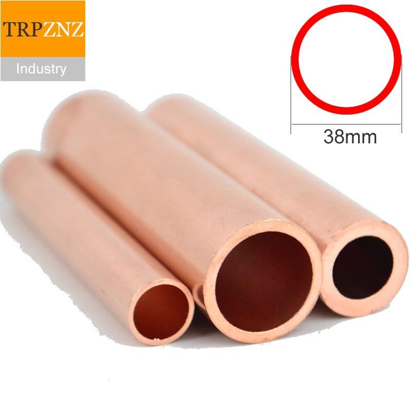 T2 kupfer rohr rohr, OD38, äußere durchmesser 38mm, wand dicke 1.5/2/3mm, kupfer rohr, Kapillare Hohl kupfer rohr Fabrik outlets