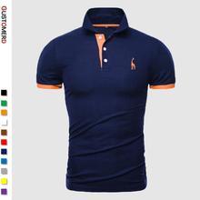 Dropshipping 13 צבעים מותג איכות כותנה Polos גברים רקמת פולו ג 'ירפה חולצה גברים מזדמן טלאי זכר חולצות בגדי גברים