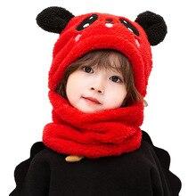 Gorro de terciopelo con orejas de Panda para niños y niñas, accesorios de fotografía para recién nacidos, conjunto de bufanda cálida para otoño