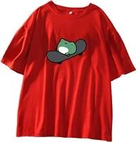 summer tops t shirt tee shirt skateboard frog summer women short sleeve t shirt cartoon printing pattern kawaii korean tops