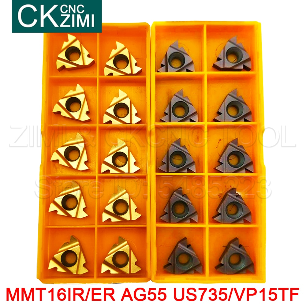 MMT 16ER 16IR AG55 VP15TF US735 carbide inserts Thread Turning cutting tool Lathe Tools Milling cutter CNC tool Turning Tools