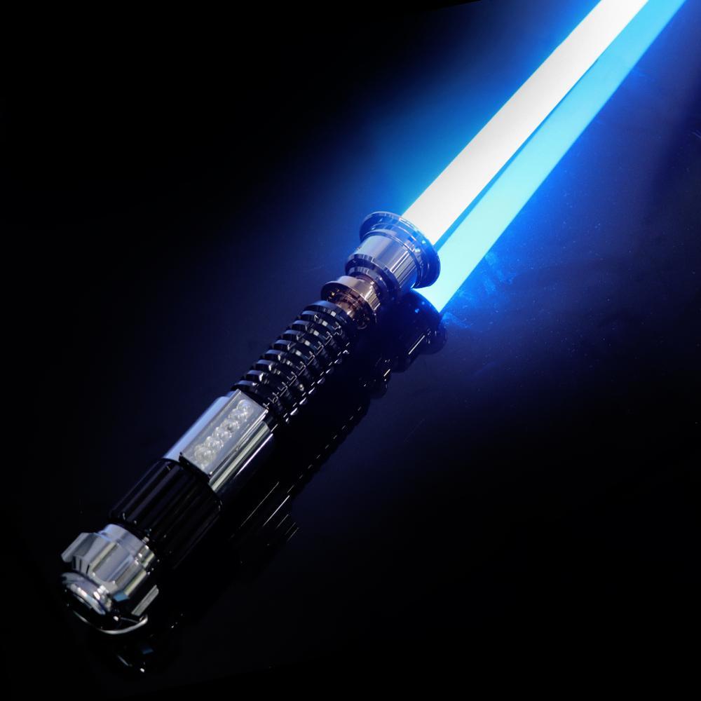 LGT Lightsaber -Obi-Wan Force FX-المبارزة الثقيلة ، صابر خفيف ، تغيير اللون بلا حدود مع 9 خطوط صوتية ، تأرجح ناعم حساس