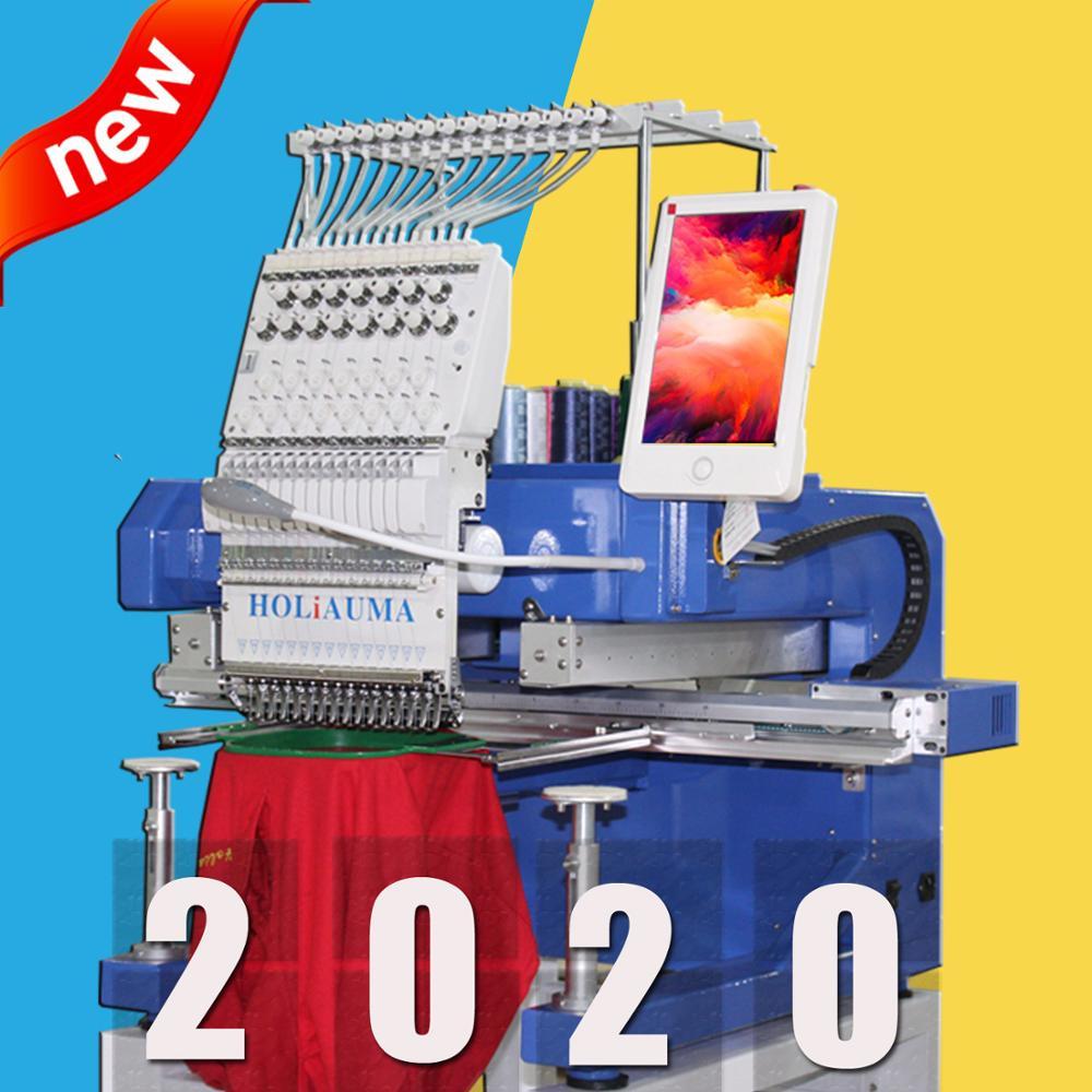 Máquina de bordado computarizada de un solo cabezal de 15 agujas como la máquina de bordado barudan con múltiples funciones para gorra/camiseta/plana