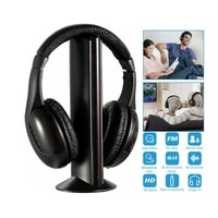 5 in 1 wireless hifi surround stereo headphone with fm radio and hd microphone for iphone xiaomi samsung tablet