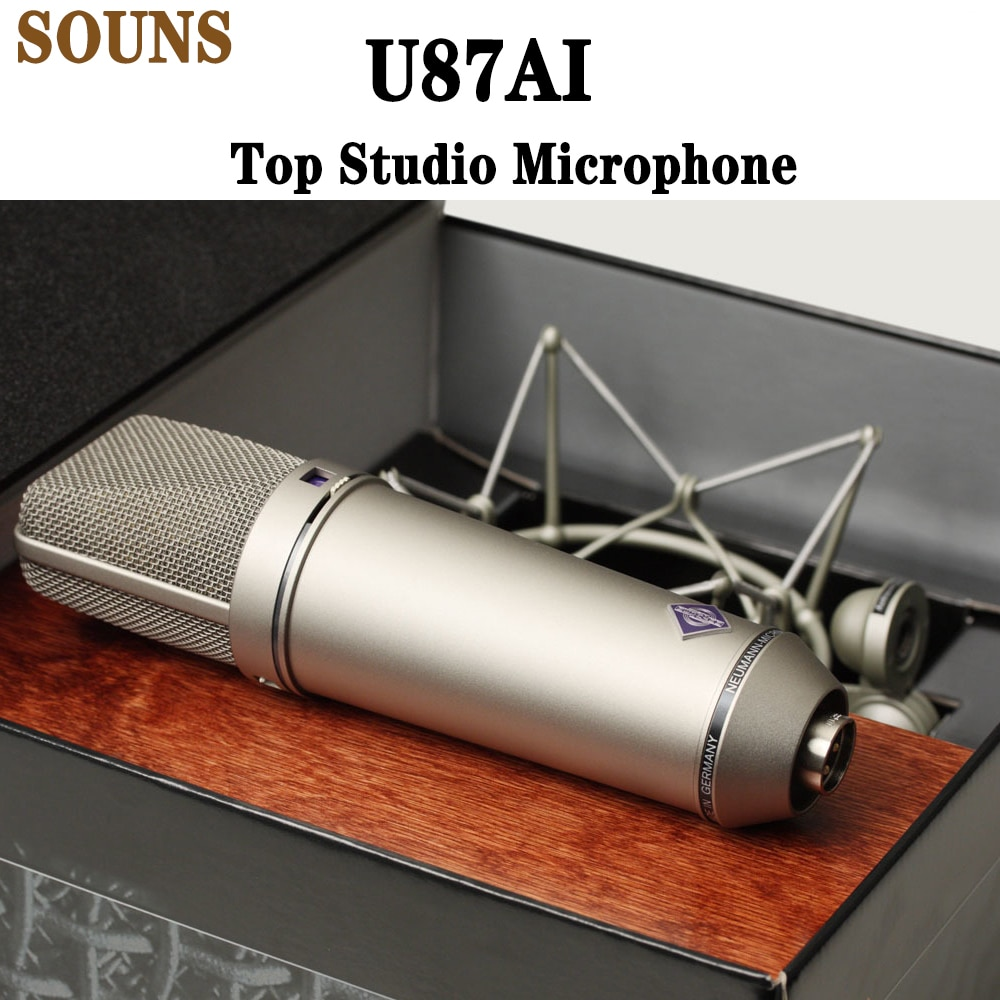 ميكروفون ستوديو U87AI ، ميكروفون صوتي مكثف احترافي U87 ، ميكروفون عالي الجودة superheart oid 87AI