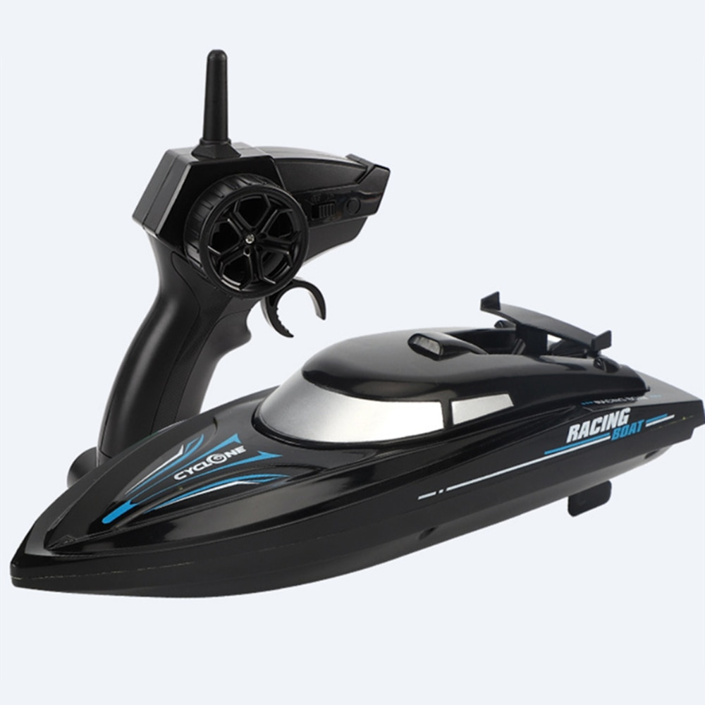 New RC Boat 2.4 Ghz Remote Control Speedboat Kids Toy High Speed Racing Ship Rechargeable Batteries