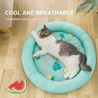 pet dog mat ice pad sleeping summer cooling round mats pet kennel top quality cold breathable non slip pet supplies