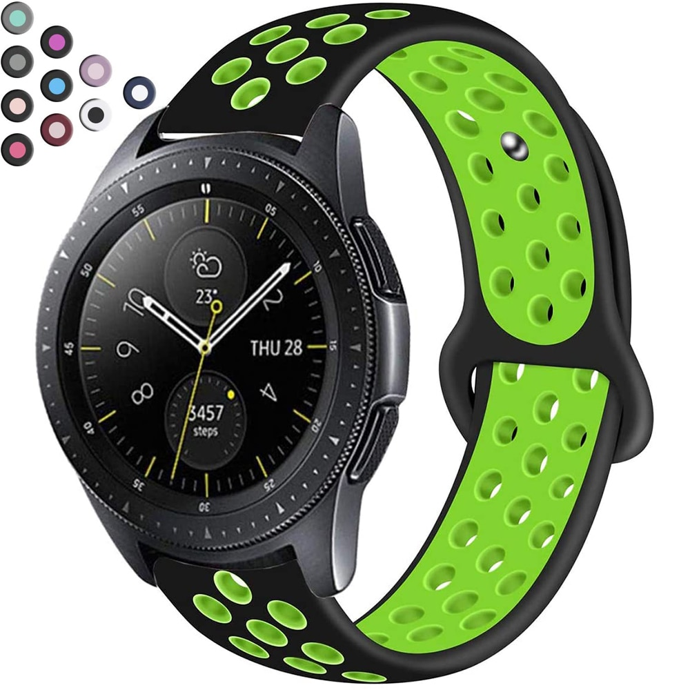 20mm 22mm Silikon Strap Band Für Apple Samsung Galaxy Uhr Aktive Getriebe Amazfit Huawei GT 2 2E GT2 GT2E Armband Zubehör