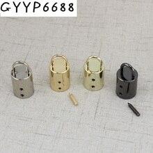 10 pièces 50pcs 5 couleurs sac accessoires bricolage métal boucle bellpull tressé corde sac boucle vendre bouchon cuir cordon gland embouts