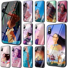 EWAU Pocahontas Gehärtetem Glas Telefon Abdeckung Fall Für iPhone 11 Pro 6 6S Plus 7 8 Plus X XS XR XS Max