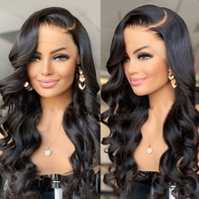 13x4 HD Lace Frontal Wig Body Wave Lace Front Human Hair Wigs Brazilian Transparent Lace Wigs Preplu