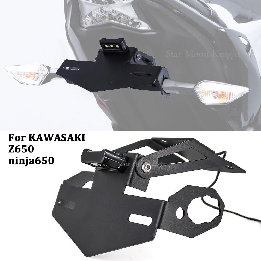 Для Kawasaki Z650 Z 650 ninja650 NINJA 2017 - 2020 держатель номерного знака мотоцикла кронштейн рама аккуратный крыло Устранитель