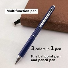 Monte mount caneta esferográfica de luxo, caneta esferográfica de 3 cores para escrita, escolar, escritório, presente para negócios, caneta 024