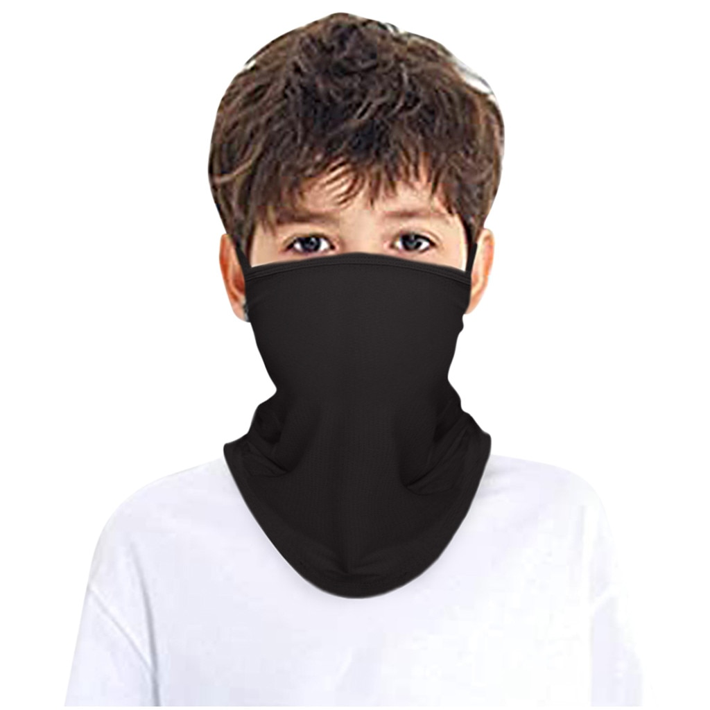 Crianças rave bandana rosto cachecol cor sólida orelha loops pescoço cachecóis gaiter tubo headwear para meninos e meninas pescoço lenços máscara