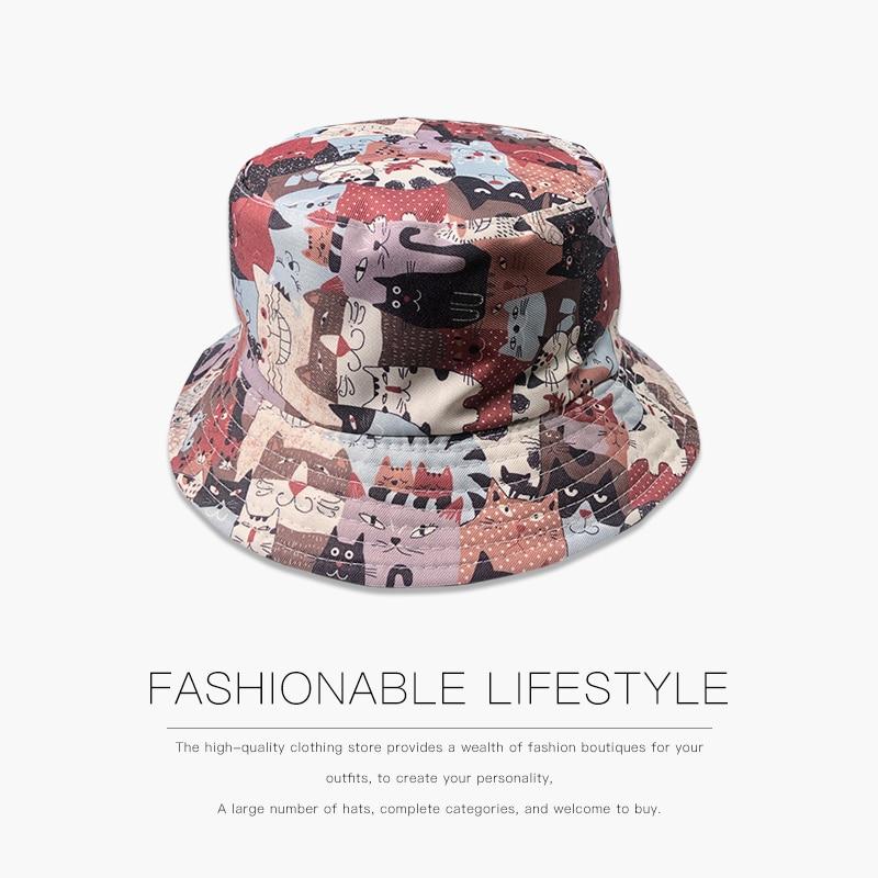 Фото - Summer Wild Hipster Fisherman Hat Korean Street Outdoor Tide Brand Hip-hop Hat Basin Hat Foldable Print Cotton mark wild street meeting