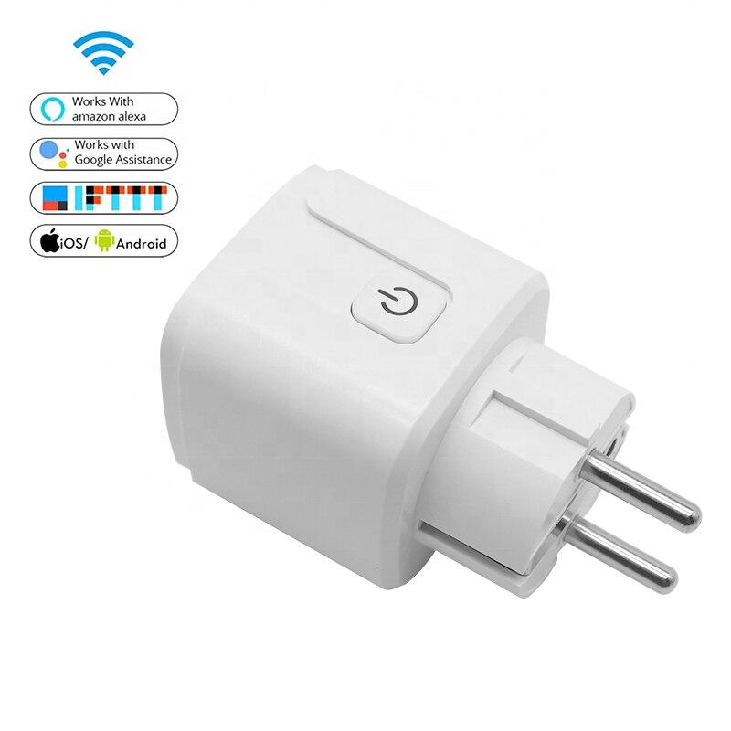 Фото - Tuya wi-fi smart plug EU smart socket 10A wifi enabled mini remote control electrical plug timer switch solution wi fi розетка xiaomi mi smart plug enhanced eu vde wi fi белый zncz03cm