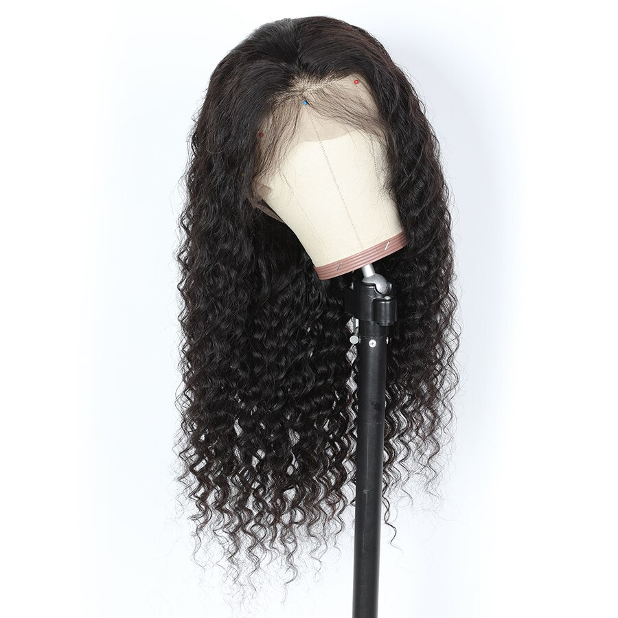 Curly Transparent Lace Wig T Part Human Hair Wigs PrePlcuked Brazilian 13x4x1 Lace Part Natural Hairline Remy Mslynn Hair