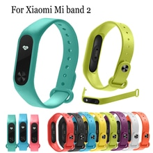 Fashion soft Silicone watchband Replacement for Xiaomi Mi band 2 watch Strap Wristband Bracelet For