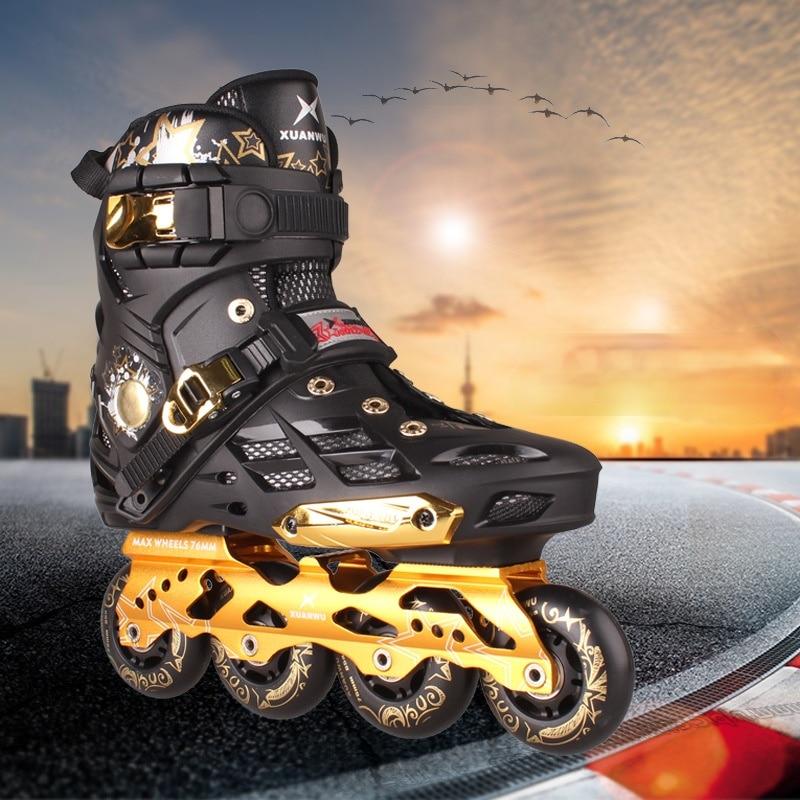 Профессиональные роликовые коньки, четырехколесные роликовые коньки, спортивное оборудование для мужчин BI50SS