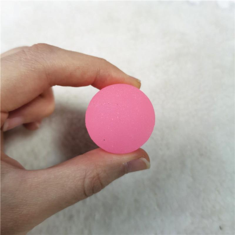 10 Uds. 3cm Noctilucent Color sólido de goma que rebota bolas malabares que saltan al aire libre juguetes deportivos para bebés niños