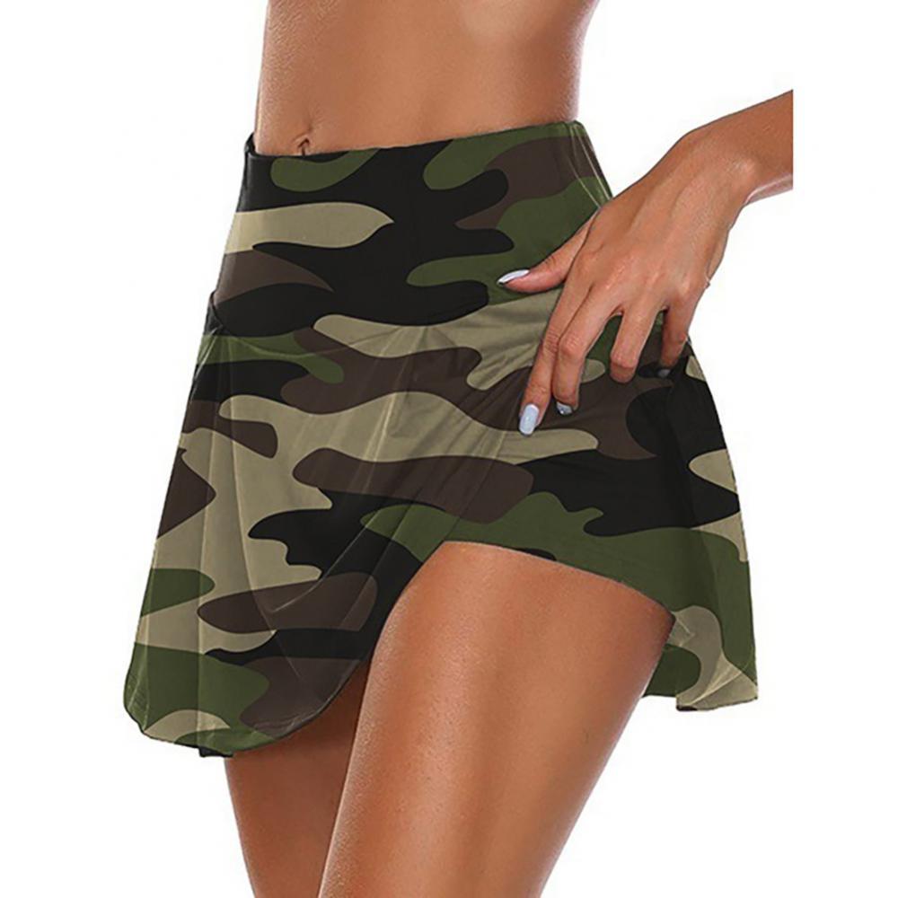 Летние женские пикантные камуфляж с фальш-вставкой, дышащие эластичные спортивные шорты мини юбка-шорты vetment femme шорты женский S-5XL