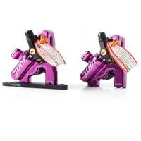 juin tech gt f line pull hydraulic disc brake caliper road disc cx gravel 160mm gt f 4 piston flat mount purple