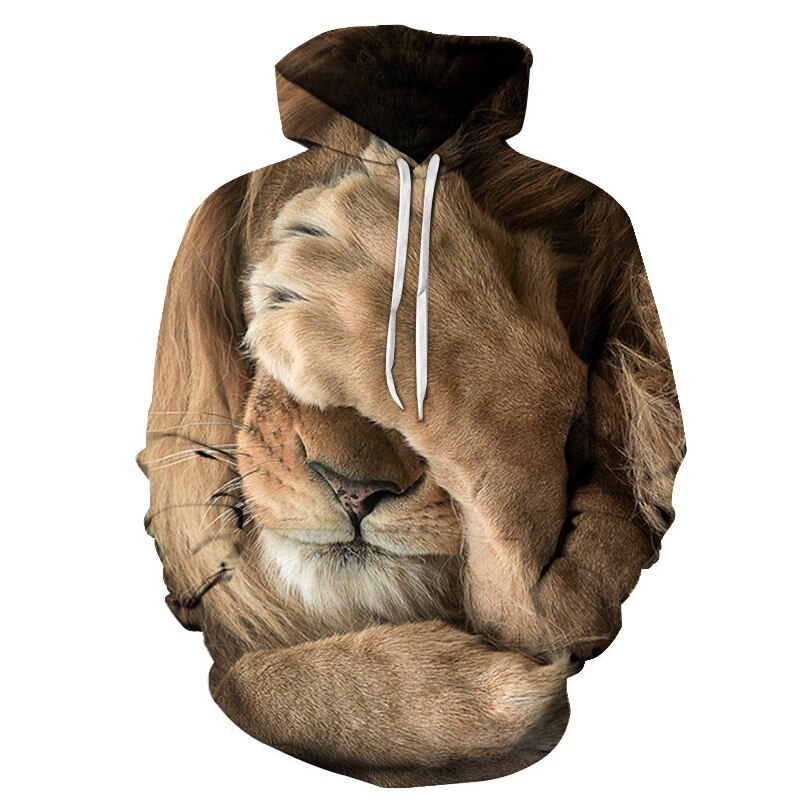 Men's Pullover Hoodie Sweatshirt Graphic Lion Hooded Daily Weekend 3D Print Casual Hoodies Sweatshirts Long Sleeve. men unisex pitbull limited edition 3d dog print zipper hoodie long sleeve sweatshirts jacket pullover tracksuit