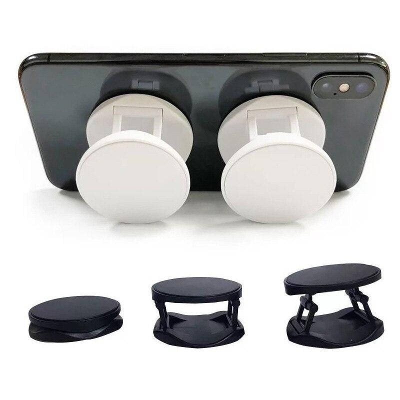 10-100 Uds material en blanco redondo teléfono móvil plegable estirable airbag soporte teléfono titular