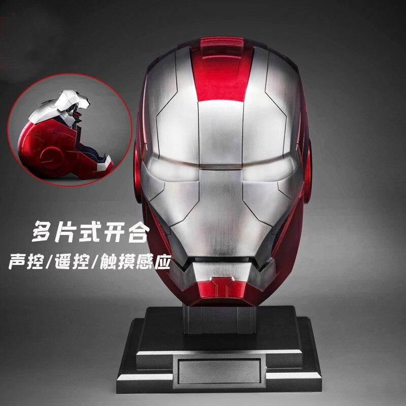 Marvel wearable Iron Man MK5 voice-activated deformation helmet