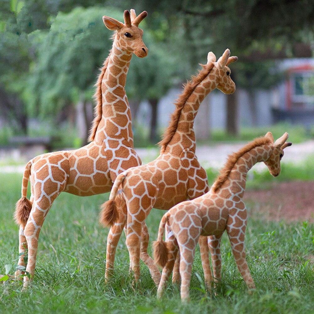140cm Giant Real Life Giraffe Plush Toys Cute Stuffed Animal Soft Giraffe Doll Birthday Gift Kids Toy