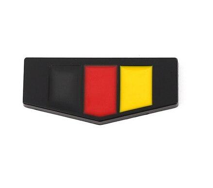 Металлический флаг Германии автомобильный брызговик Задняя эмблема значок наклейка автомобильные аксессуары