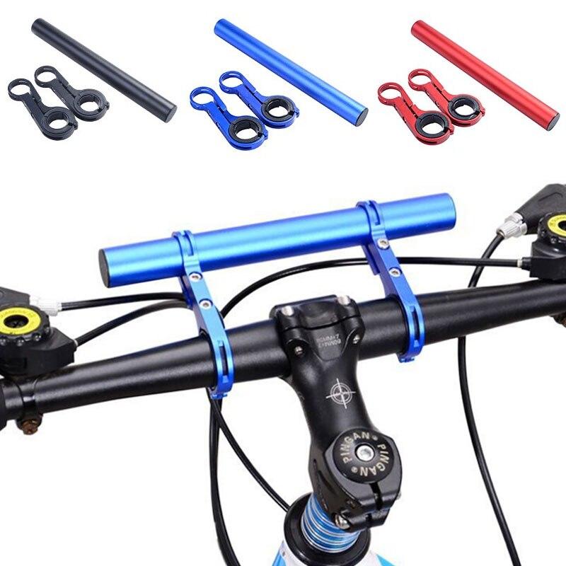 20cm guiador da bicicleta extensor mtb suporte de bicicleta haste tubo extensão para velocímetro farol telefone rack luz suporte da lâmpada