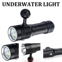 100m underwater diving video fill photography light lamp waterproof led xm l2 xpe led white red dive torch diving flashlight