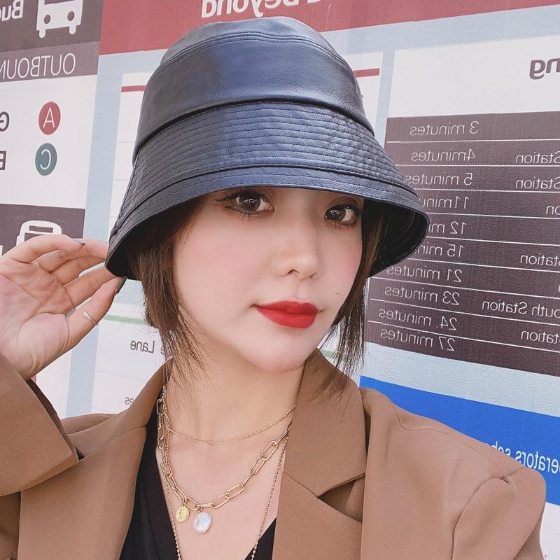 Новые зимние осенние корейские модные кожаные рыболовные шапки, Теплые повседневные рыбацкие шапки для женщин и мужчин, трендовые дизайнер...