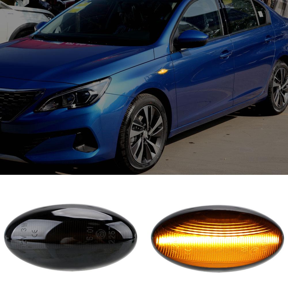 YOSOLO 1 Pair LED Car Dynamic Side Marker Flowing Water Light Blinker Turn Signal Lamp