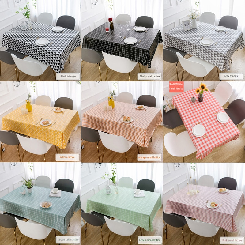 Woven Table Cloth PVC Waterproof Oilproof Anti-pollution Tablecloth Kitchen Decorative Rectangular Coffee Cuisine Tablecloth Map