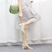 jianbudan new sandals womens summer dress high heels sandals square toe open toe fashion slides womens party pumps 34 40 size