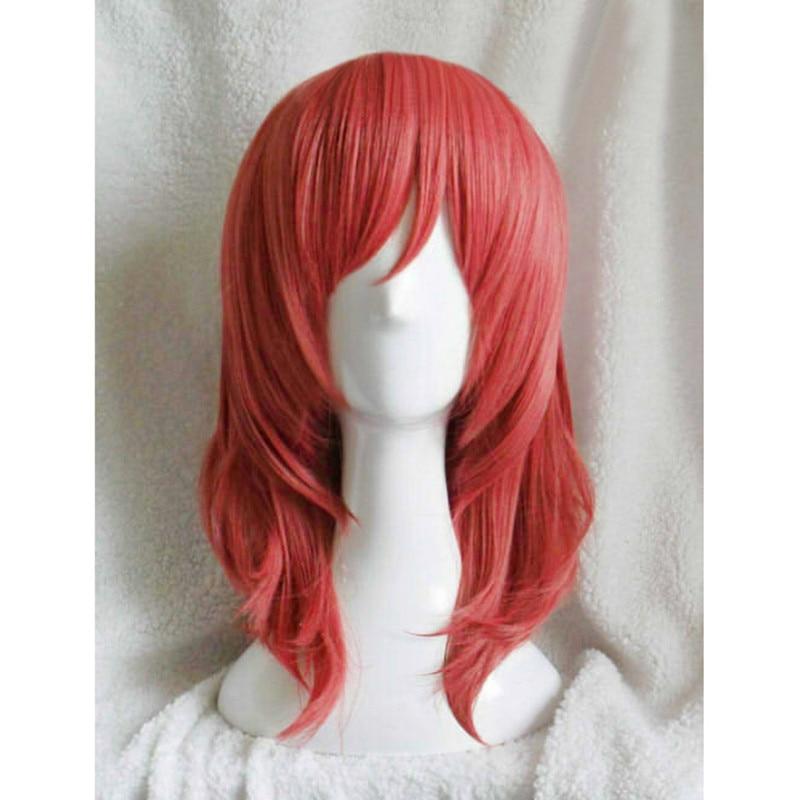 ¡Amor! ¡En directo/Live! Amor en vivo Maki Nishikino corto rojo resistente al calor Cosplay disfraz peluca + pista + gorra