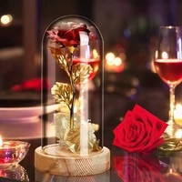 rose valentines day gift kitrose with wooden baseled lightfor home decorgift for birthdaymothers day anniversary