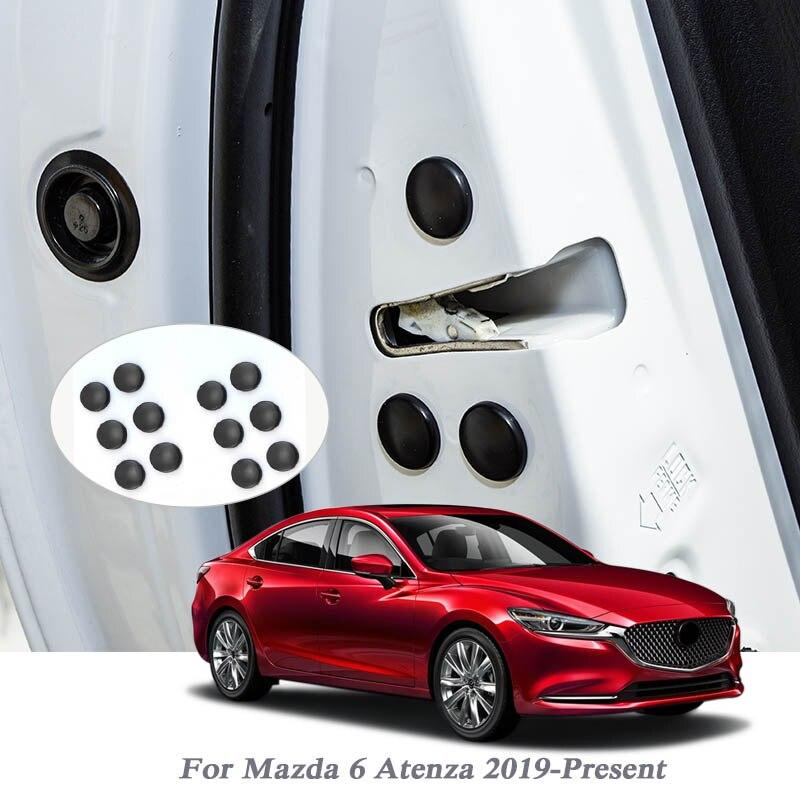 12Pcs Car Styling ABS Car Door Lock Screw Protector Covers Waterproof Door For Mazda 6 Atenza 2019-Present External Accessory