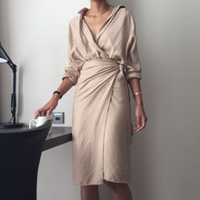 2021 Spring New Products Pure Color Commuter  Simple Style Bandage Dress Knee Length Straight Skirt