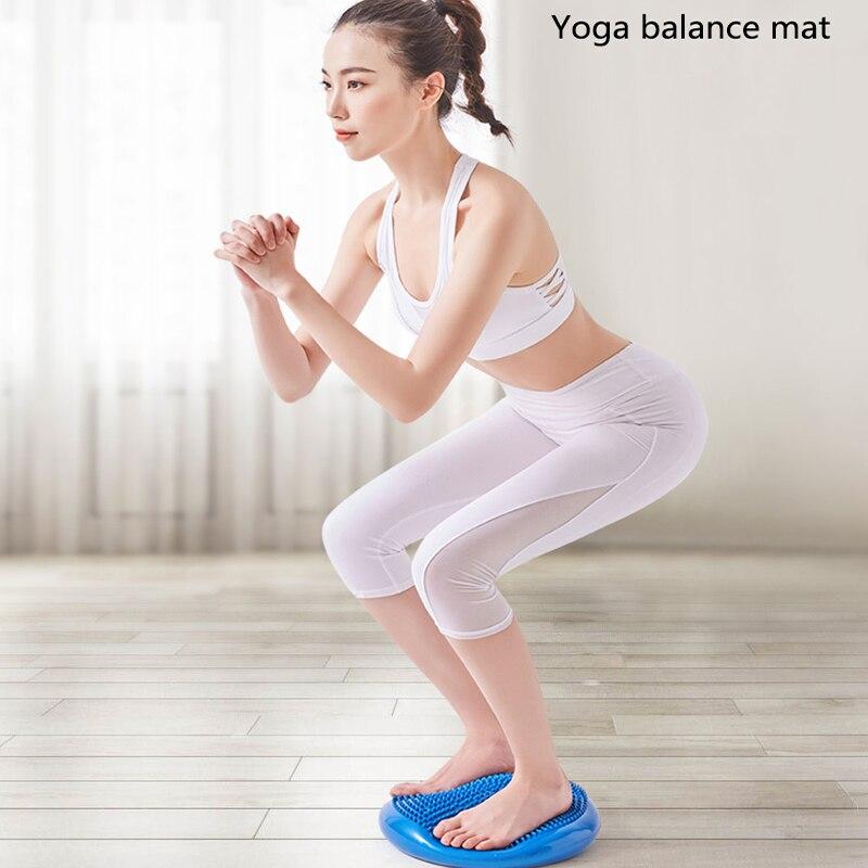 Pelota de masaje de Yoga inflable Durable Universal deportes gimnasio Fitness Yoga tampón de estabilidad equilibrio de masaje de disco Mat Pilates