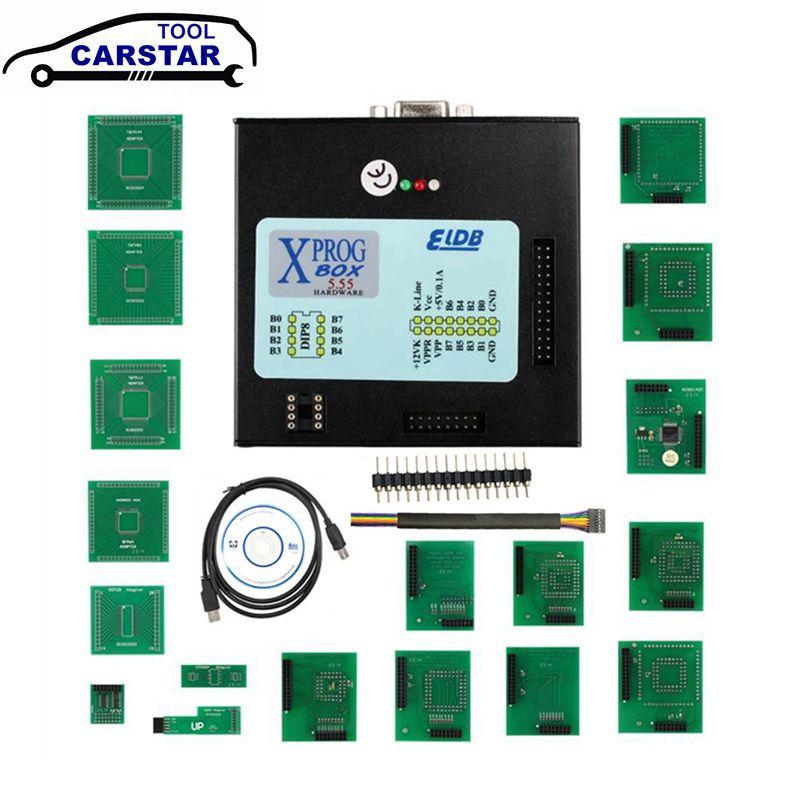 XPROG, caja de Metal negra de 5,55, programador ECU de ajuste de Chip automático XPROG-M V5.55 XPROG M, mejor que Xprog 5,0, función estable