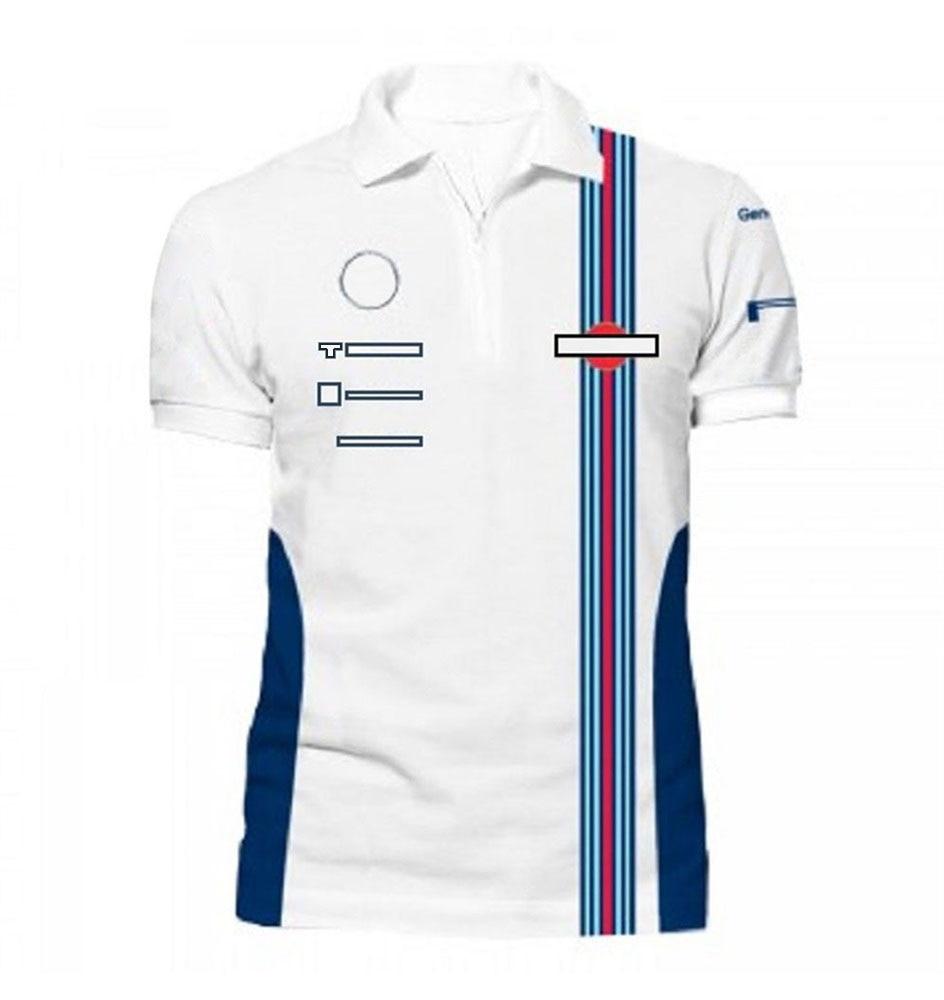 Футболка-поло F1 с коротким рукавом, спортивный костюм Формула 1, летний топ с лацканами и надписью на заказ