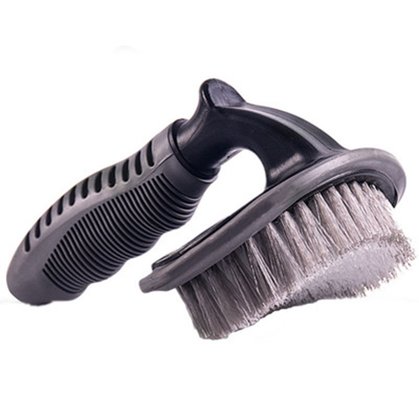 Cepillo de cepillado de rueda de cepillado de neumático de anillo en forma de T de cabeza redonda, cepillo de cepillado de vehículo, equipo de LIMPIEZA DE VEHÍCULOS, herramienta de cepillado