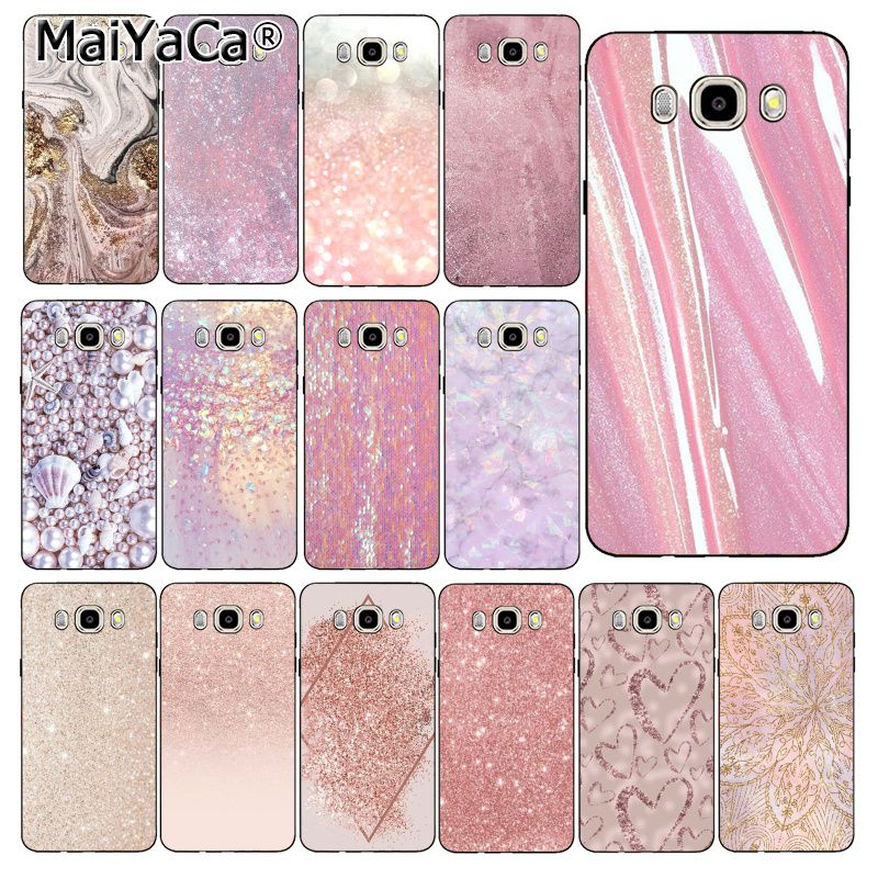 MaiYaCa Rosa Rose Gold Glitter Marmor Ästhetischen Diamant Phone Für Samsung Galaxy J7 J6 J8 J4 J4Plus J7 DUO J7NEO j2 J7 Prime